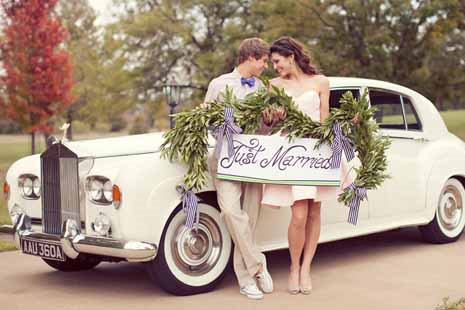 Ретро-кар для свадьбы
